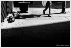 Strolling Past in the Light, DTLA, Los Angeles, CA, ©2016 Reginald Foster, All Rights Reserved